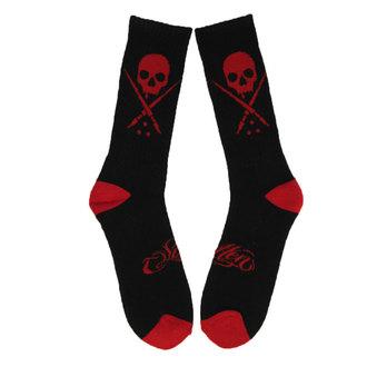 ponožky SULLEN - Standard Issue - BLK/RED - SCA0074_BKRD