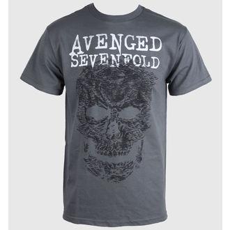 tričko pánské Avenged Sevenfold - Skull - Grey - BRAVADO