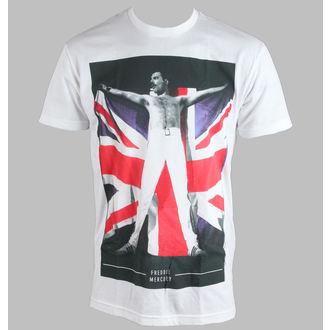 tričko pánské Freddie Mercury - Flag - White - BRAVADO, BRAVADO, Queen