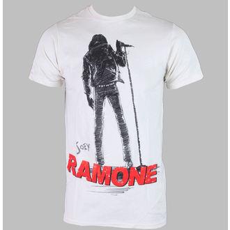 tričko pánské JOEY RAMONE - SILHOUETTE - Creme - BRAVADO