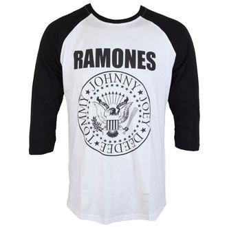 tričko pánské Ramones - President Seal - White - ROCK OFF, ROCK OFF, Ramones