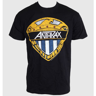 tričko pánské Anthrax - Eagle Shield -  Black - ROCK OFF - ANTHTEE10MB