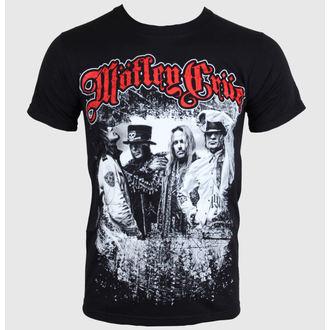 tričko pánské Mötley Crüe - Greatest Hits Bandshot - Black - ROCK OFF, ROCK OFF, Mötley Crüe