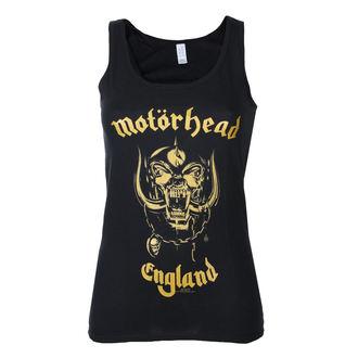 tílko dámské Motörhead - England Gold - Black - ROCK OFF, ROCK OFF, Motörhead