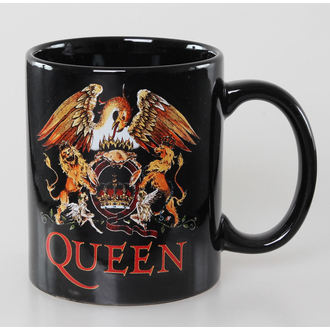 hrnek Queen - Classic Crest - Black - ROCK OFF, ROCK OFF, Queen
