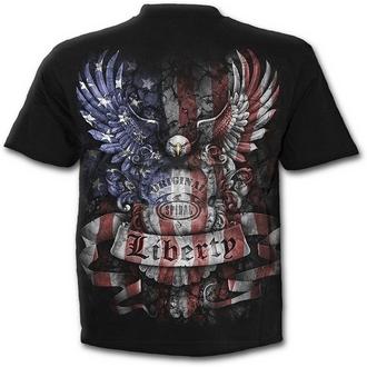 tričko pánské SPIRAL - LIBERTY USA - BLK - E014M101