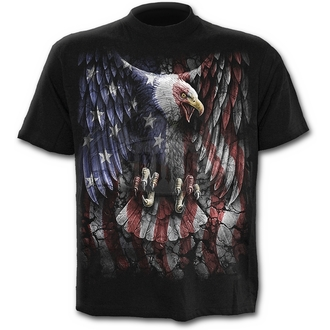 tričko pánské SPIRAL - LIBERTY USA - BLK