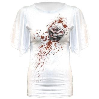 tričko dámské SPIRAL - WHITE ROSE - WHITE - DW199333