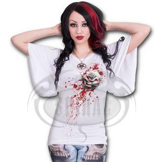 tričko dámské SPIRAL - WHITE ROSE - WHITE