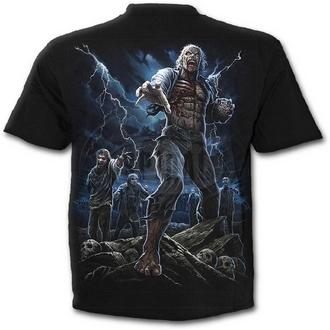 tričko pánské SPIRAL - NIGHT WALKERS - BLK - K028M101