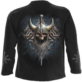 tričko pánské s dlouhým rukávem SPIRAL - VIKING DEAD - Black - L021M301