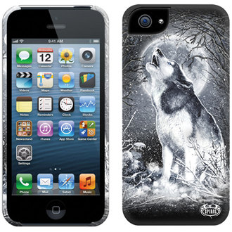 kryt na mobil SPIRAL - WHITE WOLF - IPHONE