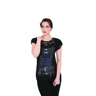 tričko dámské SPIRAL - WAISTED CORSET - BLK - T085F721