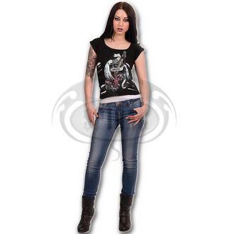 tričko dámské SPIRAL - ROCK ANGEL - WHT/BLK