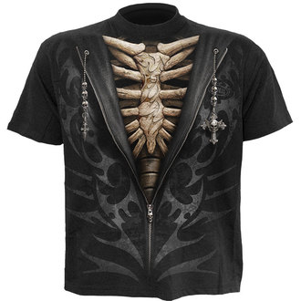 tričko pánské SPIRAL - UNZIPPED - BLK - T098M101