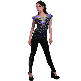 tričko dámské SPIRAL - FLAMING SPINE - BLK - W016F733
