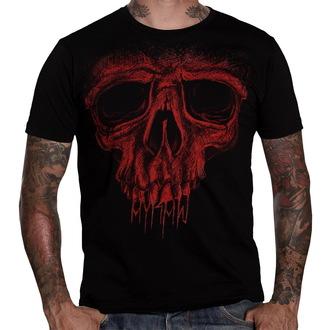 tričko pánské HYRAW - Red Skull - Black - HY002