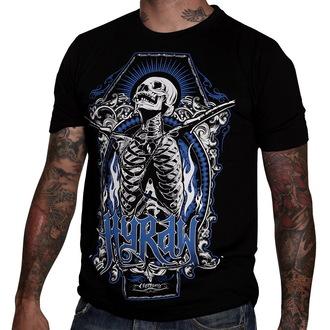 tričko pánské HYRAW - Skull & Bones - Black - HY010