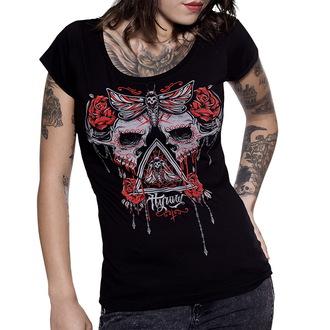 tričko dámské HYRAW - Skull & roses
