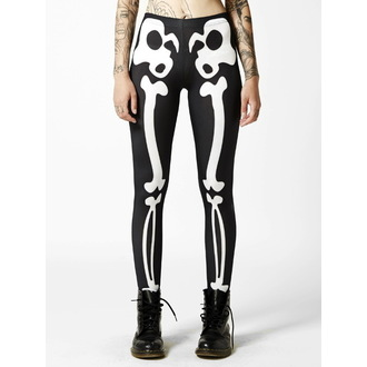kalhoty dámské (legíny) DISTURBIA - Bones - Black/White - DIS429