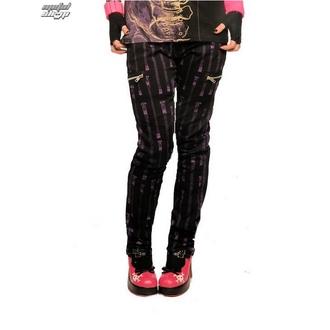 kalhoty dámské HELL BUNNY - Zipper Skinny Jeans (Purple)