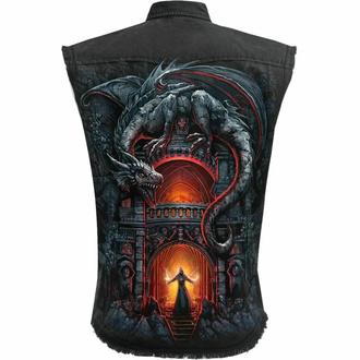 košile pánská bez rukávu (vesta) SPIRAL - DRAGON'S LAIR - Black, SPIRAL