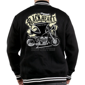 mikina pánská Baseball BLACK HEART - Motorcycle K., BLACK HEART