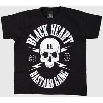 tričko dětské BLACK HEART - Skull - Black