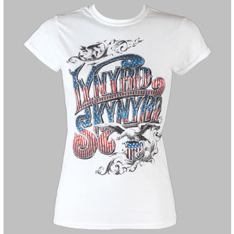 tričko dámské Lynyrd  Skynyrd - Usa Flag Logo - LIVE NATION - White, LIVE NATION, Lynyrd Skynyrd
