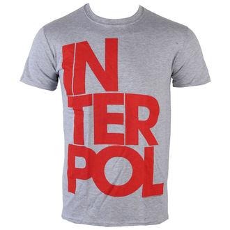 tričko pánské Interpol - Stacked Logo - PLASTIC HEAD, PLASTIC HEAD, Interpol