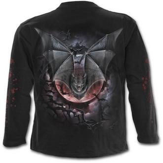 tričko pánské s dlouhým rukávem SPIRAL - VAMPIRE BAT - BLK