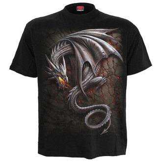 tričko pánské SPIRAL - OBSIDIAN - BLK - M016M101