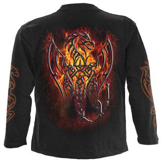 tričko pánské s dlouhým rukávem SPIRAL - OBSIDIAN - BLK - M016M301