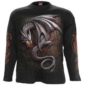 tričko pánské s dlouhým rukávem SPIRAL - OBSIDIAN - BLK