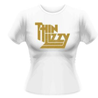 tričko dámské Thin Lizzy - Gold Sparkle Logo - PLASTIC HEAD, PLASTIC HEAD, Thin Lizzy