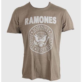tričko pánské Ramones - Logo - AMPLIFIED - Khaki