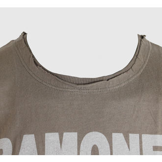 tričko pánské Ramones - Logo - AMPLIFIED - Khaki, AMPLIFIED, Ramones