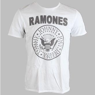 tričko pánské Ramones - Logo - AMPLIFIED - White - AV306RAM