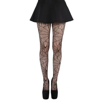 punčocháče PAMELA MANN - Cobweb Pattern Tights - Black - PM075