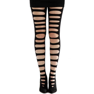 punčocháče PAMELA MANN - Front Slash Tights - Black - PM089
