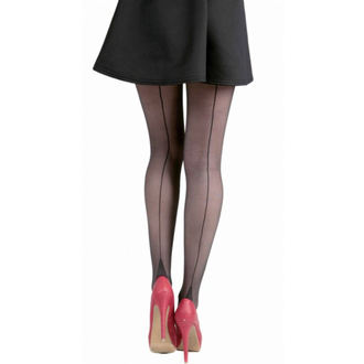 punčocháče PAMELA MANN - Jive Seamed Tights - Black/Black - 092