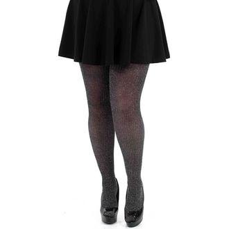 punčocháče PAMELA MANN - Lurex Rib Tights - Black/Silver - 104