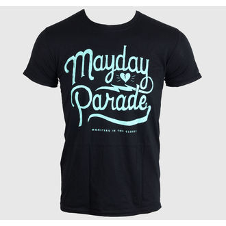 tričko pánské MAYDAY PARADE - SCRIPT -BLACK - LIVE NATION