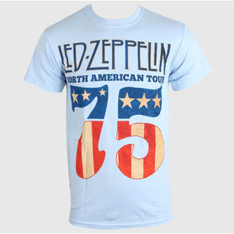tričko pánské LED ZEPPELIN - US 75 - SKY BLUE - LIVE NATION, LIVE NATION, Led Zeppelin