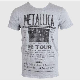 tričko pánské METALLICA - 1992 POSTER - GREY - PEMTL095