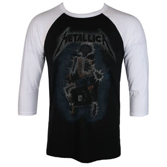 tričko pánské METALLICA - ELECTRIC CHAIR Baseball - BLACK - RTMTLBBBWRTL
