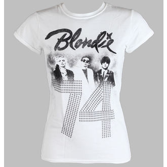 tričko dámské BLONDIE - SINCE 74 Fitted - WHITE - LIVE NATION