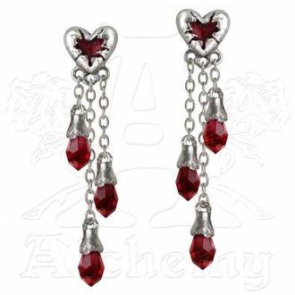 náušnice ALCHEMY GOTHIC - Bleeding Heart - E272