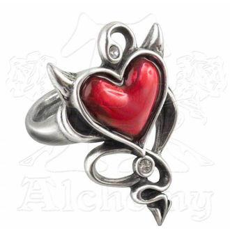 prsten ALCHEMY GOTHIC - Devil Heart - ULFR6