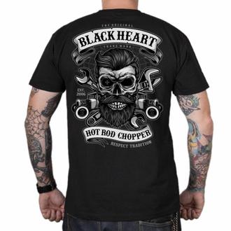 tričko pánské BLACK HEART - RESPECT TRADITION - BLACK, BLACK HEART